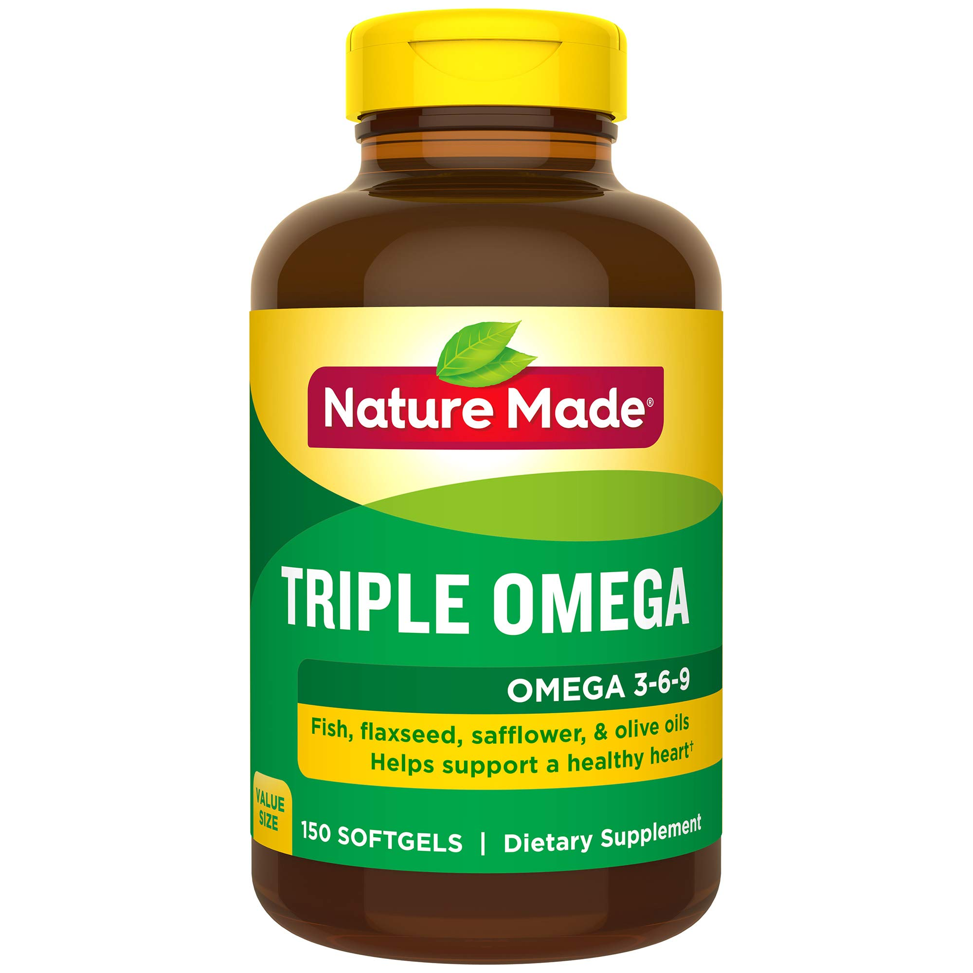 Nature Made Triple Omega 3-6-9 Softgels, 150 Count Value Size for Heart Health† (Packaging May Vary) by Nature Made