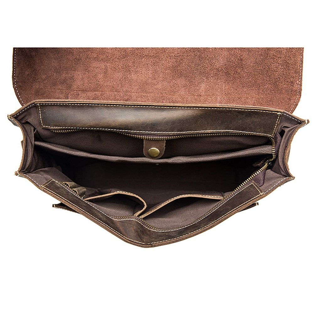 Brown 35 26 8.5cm Briefcase KTYXDE Mens Bag Shoulder Messenger Bag Computer Bag Briefcase Mens Tote