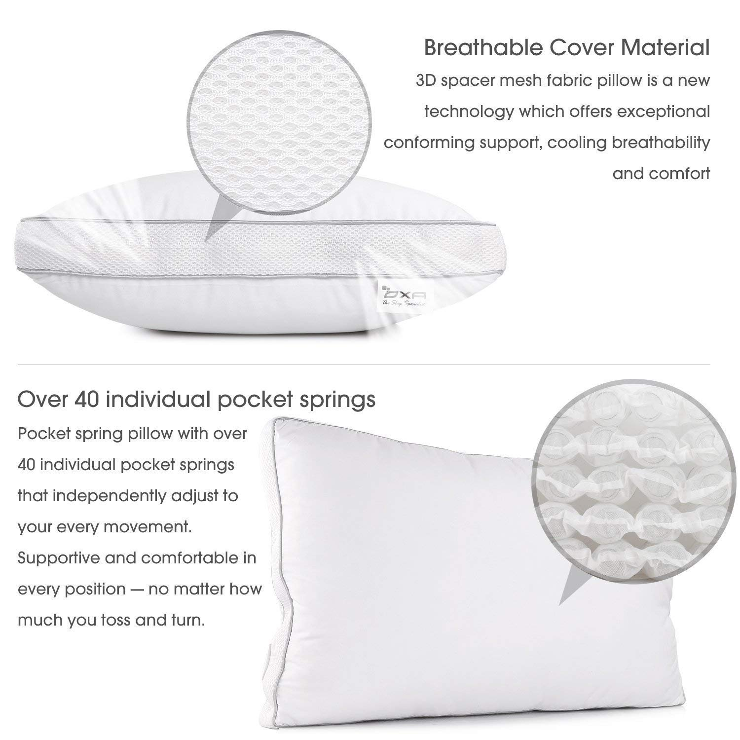 SPRING BED PILLOWS – Newest, Breathable