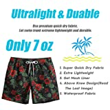 MaaMgic Mens Quick Dry Floral Swim Trunks With Mesh