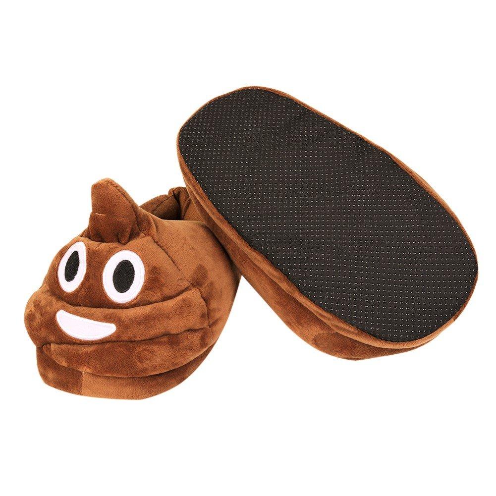 Amazon.com: dammer caca Emoji Zapatillas Fluffy Zapatillas ...
