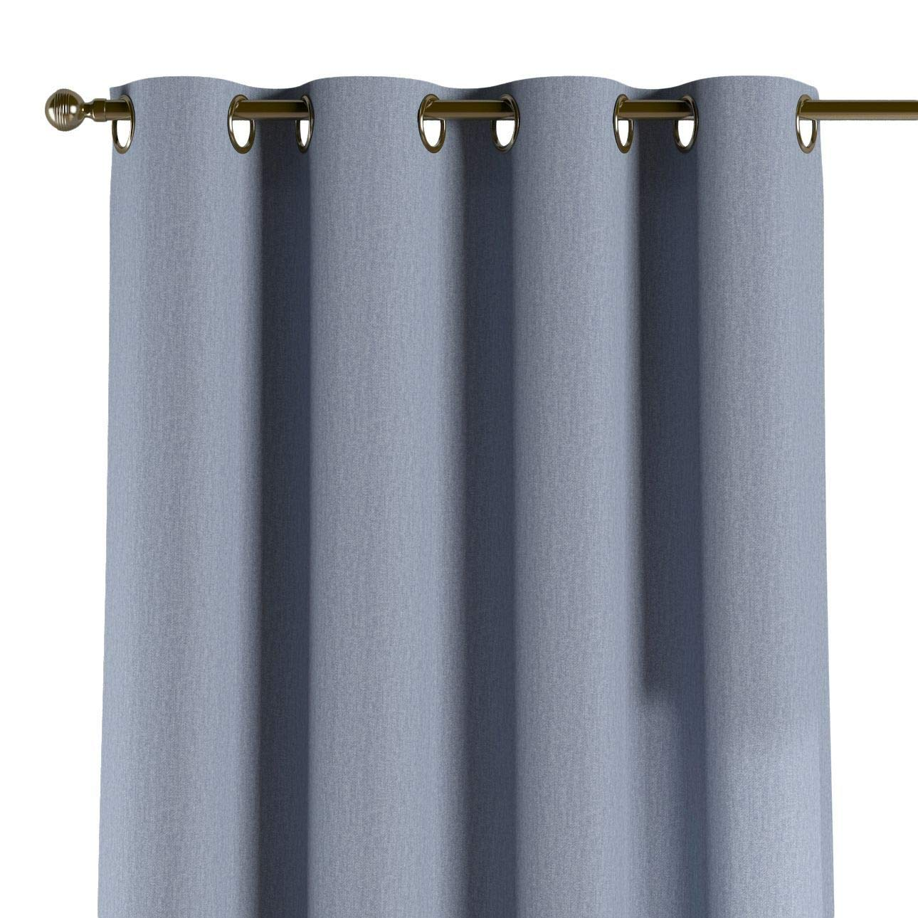 Dekoria Ösenschal Dekoschal Blickdicht 1 Stck. 130 × 260 cm Silber- blau Maßanfertigung möglich