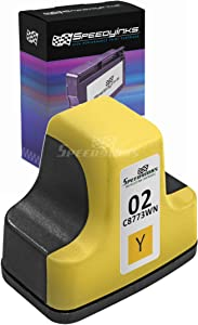 Speedy Inks Remanufactured Ink Cartridge Replacement for HP 02 C8773WN (Yellow)