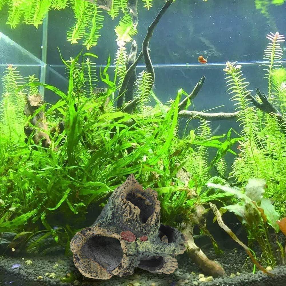 20 Gallon Fish Tank Wood with Holes /& Aquarium Hideout Caves Jingchen Decaying Trunk Tree Ornament 2Pcs for Aquarium Wood Betta House Decor Resin Aquarium Decoration
