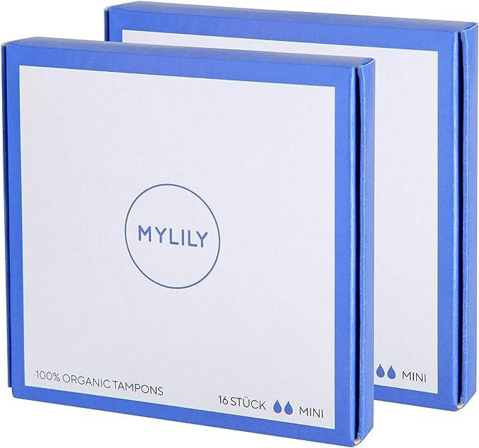 MYLILY® - Tampones (2 paquetes de 16 unidades, 100% algodón ...