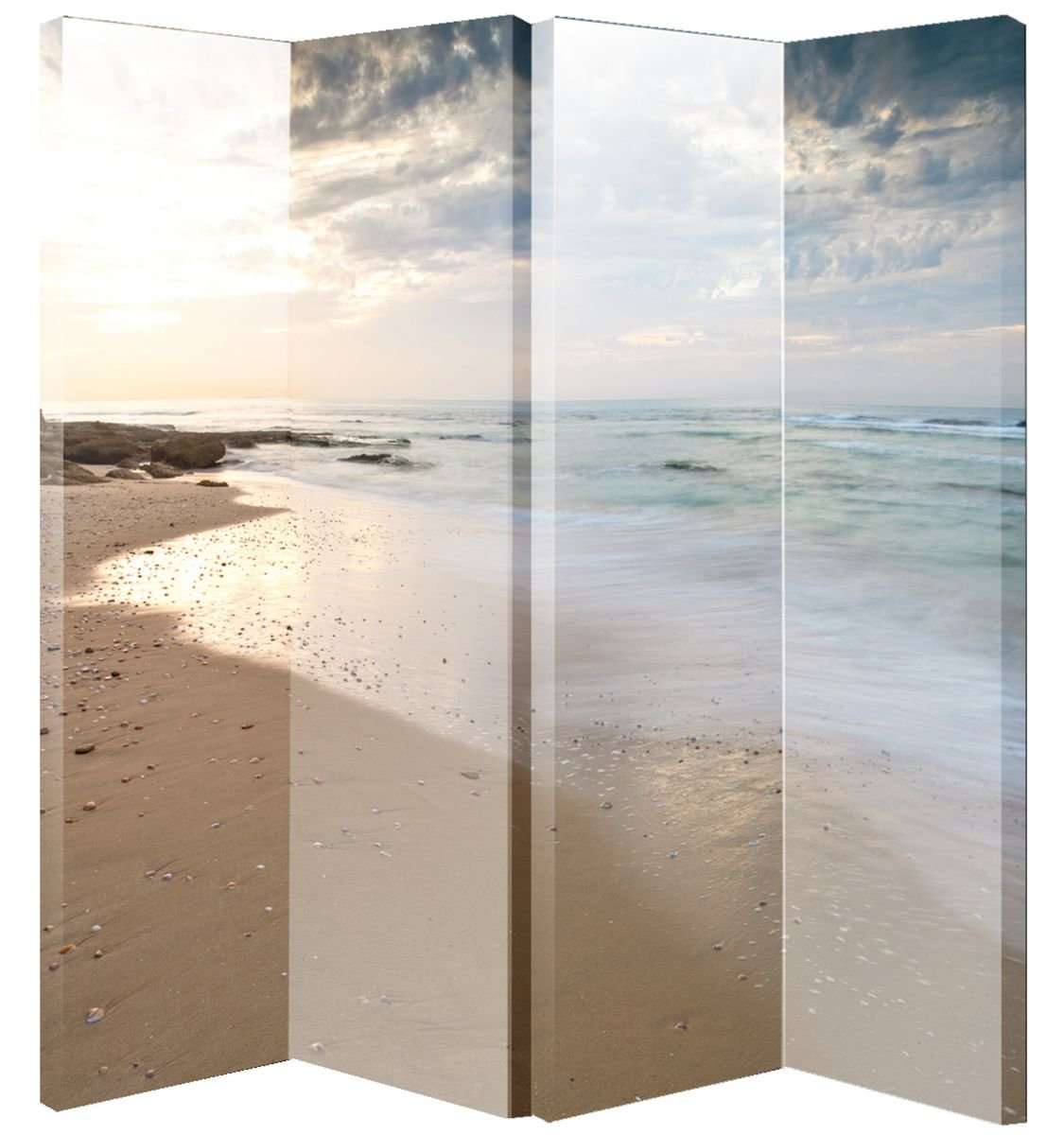 Arthouse Room Divider Screen Beach Scene 008141