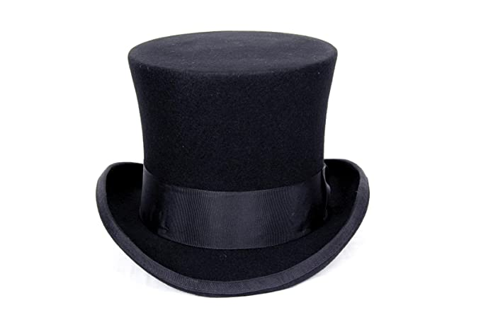 Image Unavailable. Image not available for. Colour  Black Mad Hatter  Victorian Top Hat ... 266c59da77e