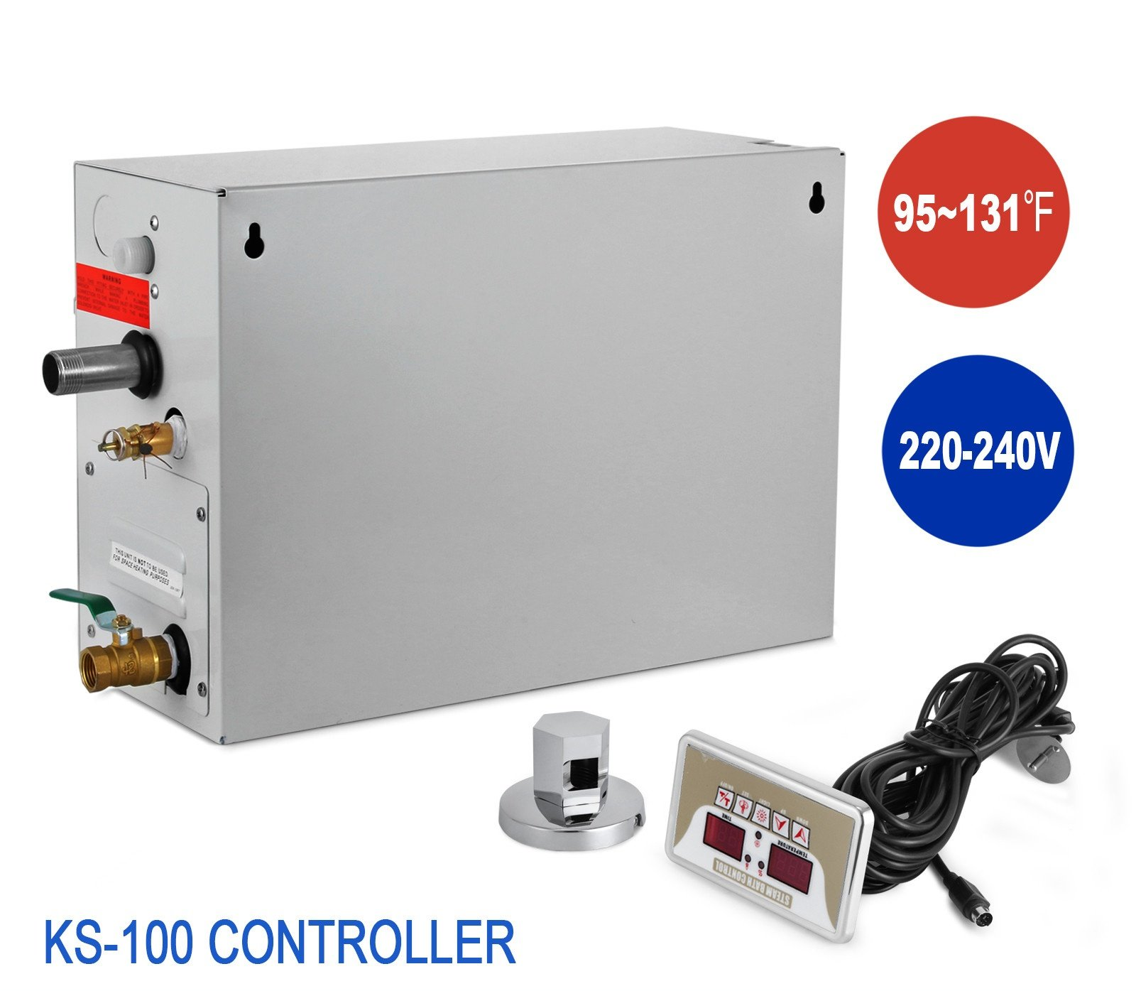 Happybuy 9 KW Steam Generator Sauna Bath Steamer for Home SPA Shower with Waterproof Programmable Controls Home Hotel Steam Bath Steam Shower Generator with Controller Kit (9KW-2)