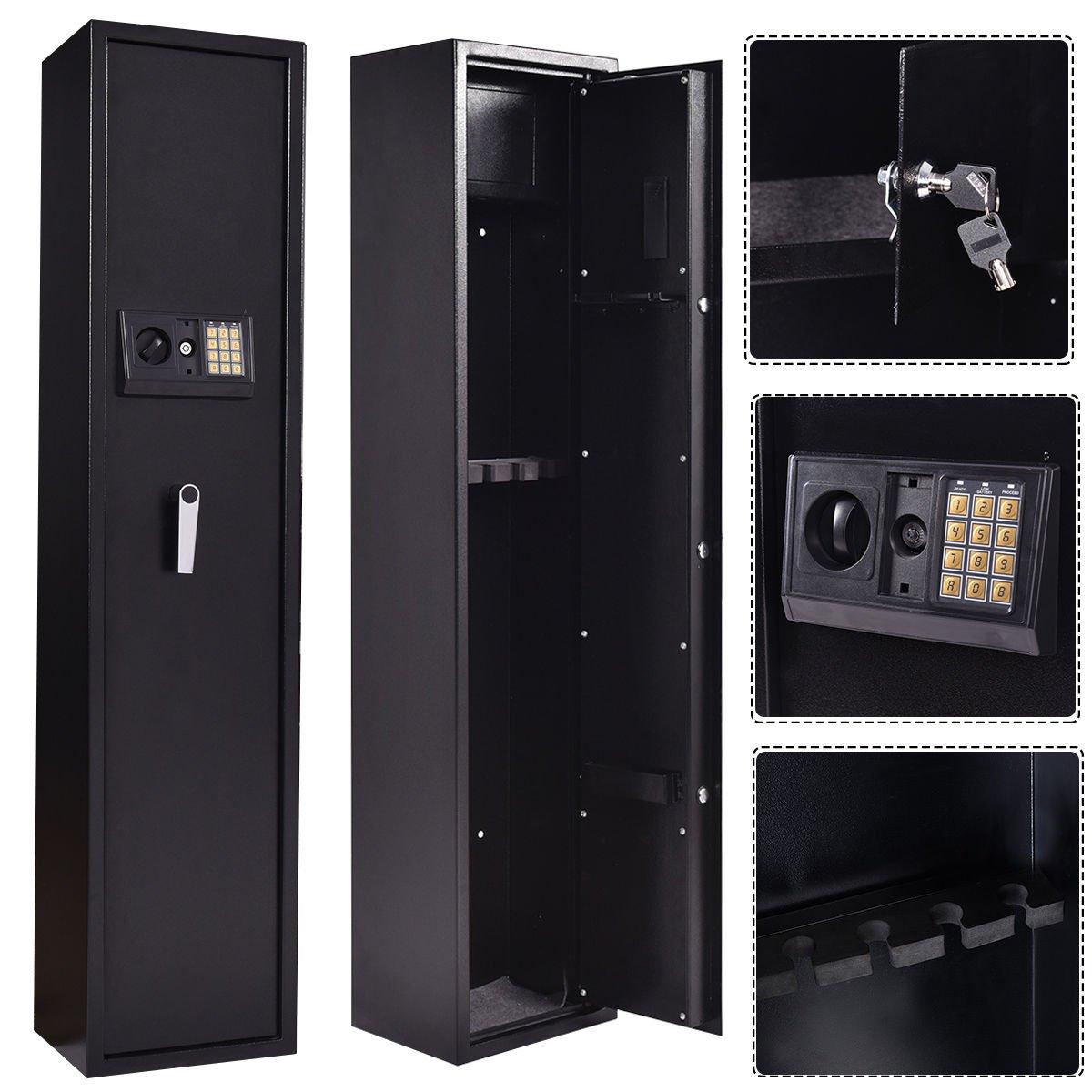 ライフルガン電子ロックストレージ安全キャビネットFirearmスチールロックボックスケース   B078YSJQB4