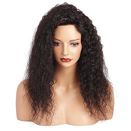 asifen nuevo frontal de encaje rizado Cabello humano pelucas 130% densidad 100% brasileño Virgin