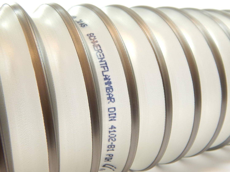 Tuyau flexible pour installations daspiration 40//à/200/mm Norres Tuyau daspiration PUR 531 AS avec armature en acier TIMBERDUC/®