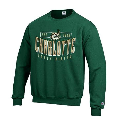 c0bed6d4 Champion UNC-Charlotte 49ers Men's Green Crew Fleece Sweatshirt (X-Large)