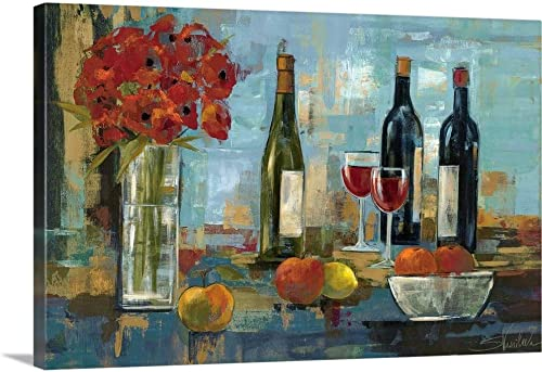 Fruit and Wine Canvas Wall Art Print