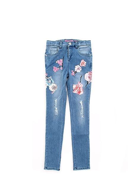 1dc669f6 Guess J91A09D3E00 Pantalones Vaqueros Chica Azul 16A: Amazon.es ...