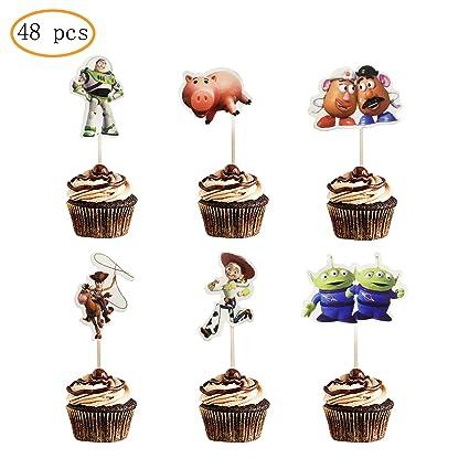 48 decoraciones para cupcakes de cumpleaños infantiles ...