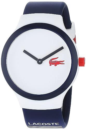 Lacoste Reloj Análogo clásico para Hombre de Cuarzo con Correa en Silicona 2020122: Amazon.es: Relojes