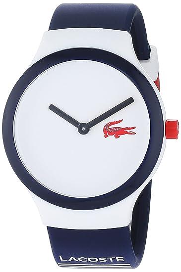 d79104c1e580 Lacoste Reloj Análogo clásico para Hombre de Cuarzo con Correa en Silicona  2020122  Amazon.es  Relojes