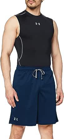 Under Armour Ademende sweatshorts voor heren met zijzakken, comfortabele korte broek met losse pasvorm, Ua Tech mesh