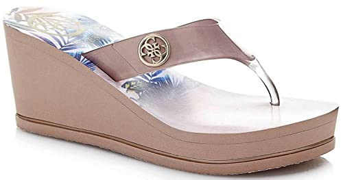 2cae106df Guess Shadia2 Nude Gold Womens Wedge Flip Flops  Amazon.co.uk  Shoes ...