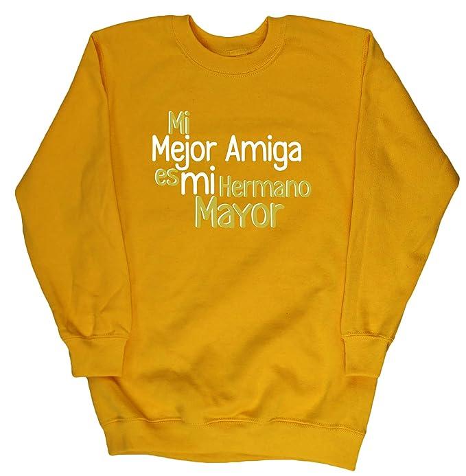 HippoWarehouse Mi Mejor Amigo es mi Hermano Mayor jersey sudadera suéter derportiva unisex niños niñas: Amazon.es: Ropa y accesorios