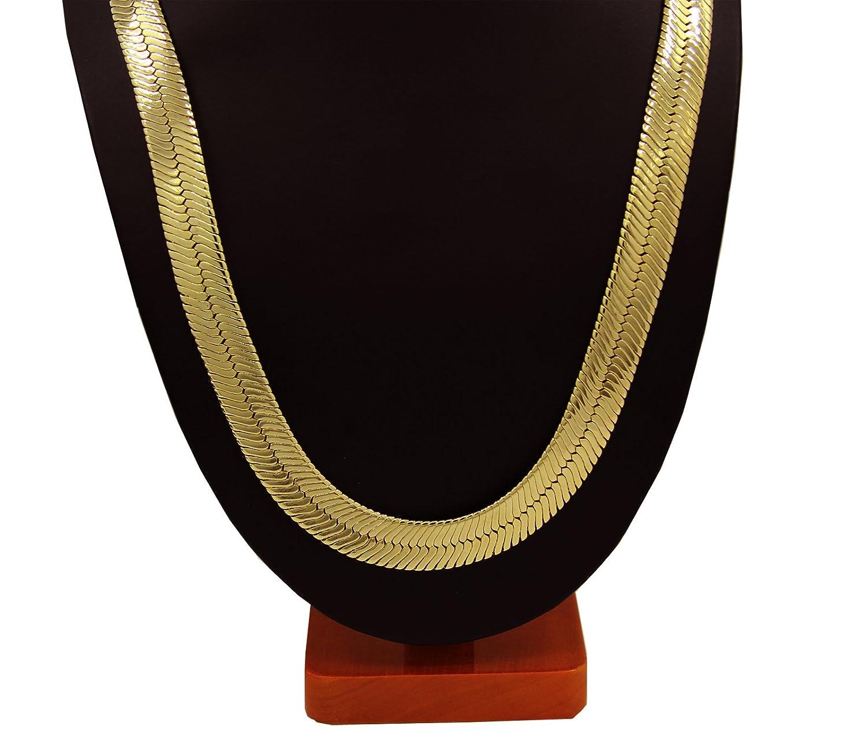 Amazoncom Mens Gold Tone 30 11mm Herringbone Chain Necklace Clothing