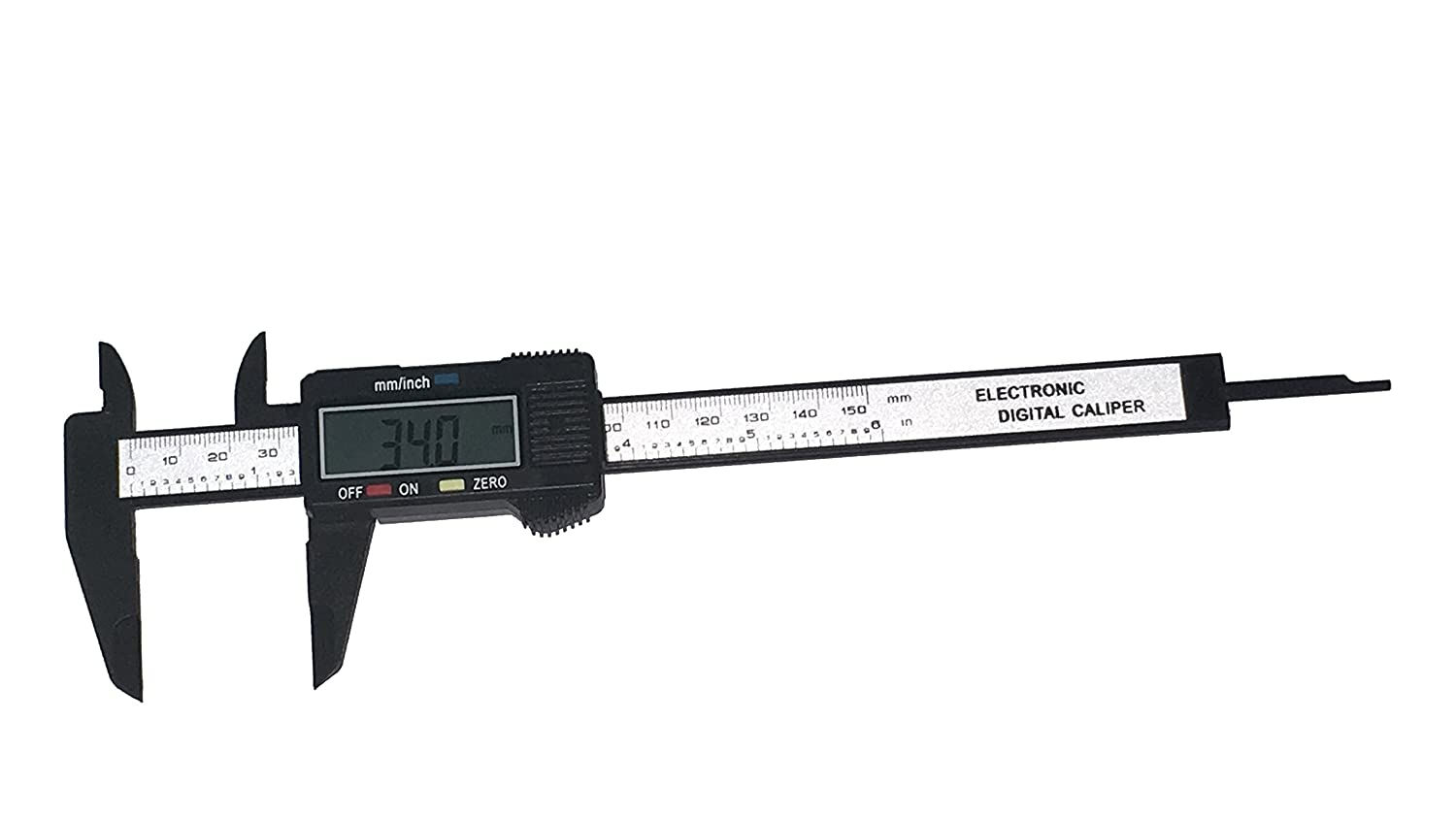 6 inch 150mm Electronic Digital Caliper Ruler Gauge Carbon Fiber Composite Vernier Micrometer with LCD Display OEM