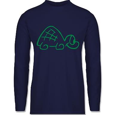 Shirtracer Sonstige Tiere - Schildkröte - S - Navy Blau - BCTU005 - Herren  Langarmshirt