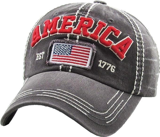 KBETHOS Rock N Roll Collection Vintage Distressed Baseball Cap Dad Hat