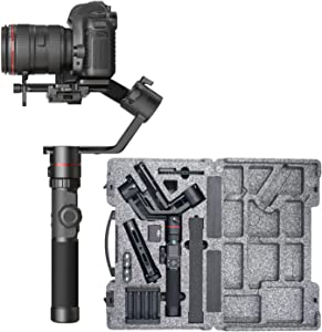 FeiyuTech AK2000 Gimbal 3-Axis Handheld Stabilizer for DSLR Cameras/Mirrorless Cameras,Fits Sony a9 a7III a7RIII Canon M50 EOS 6D Mark II EOS 200D II Panasonic GH4 GH5 Nikon Payload 2.8KG/6.17lb