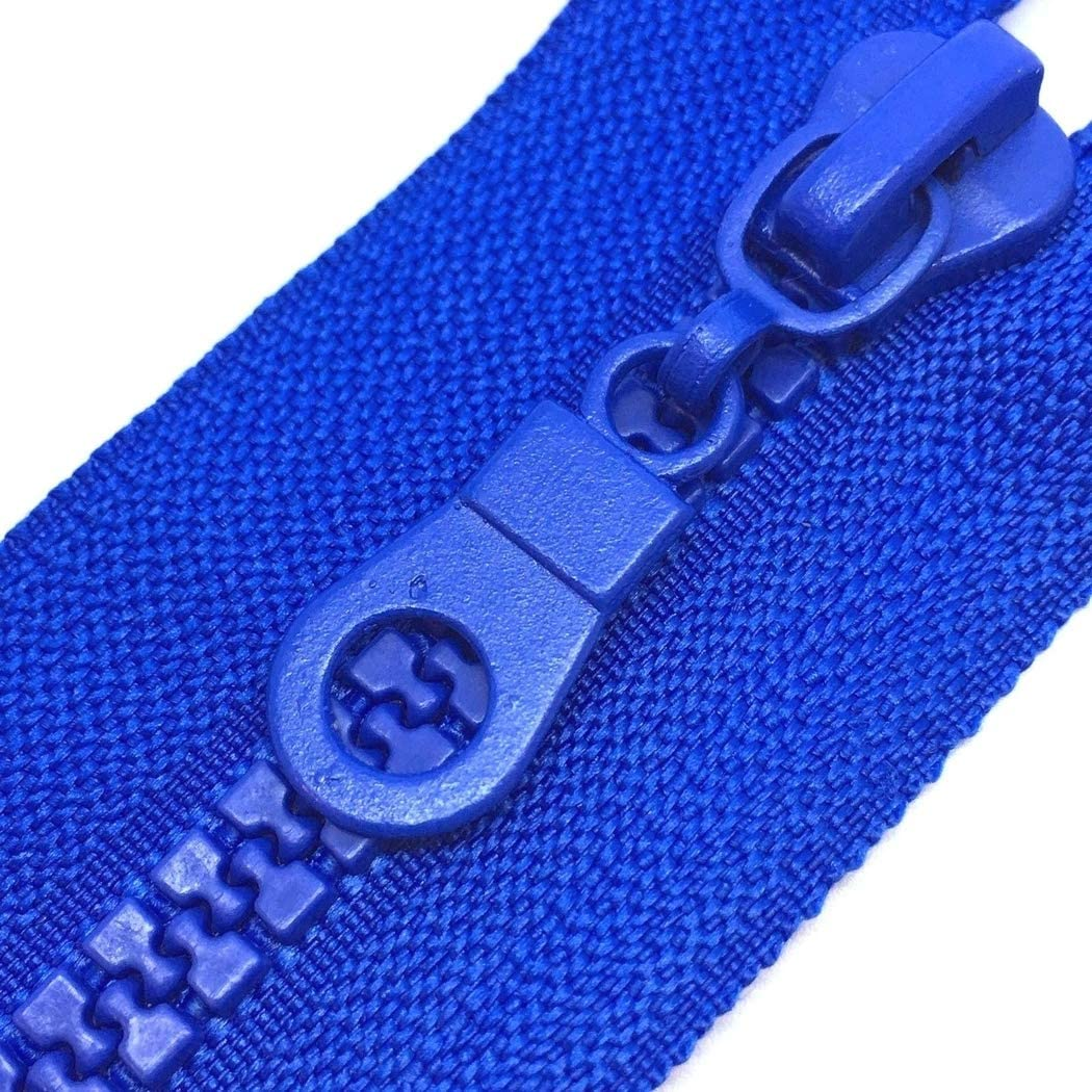 """ROYAL BLUE Best QUALITY Chunky Open Ended Zip Plastic Teeth 18/"""" to 30/"""" Open End"""