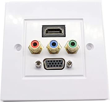 HDMI with extended line Socket Media Assorted Panel Wall Face Plate VGA Outlet