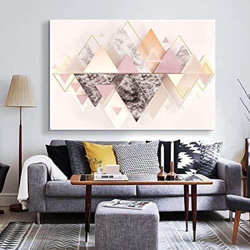 Looife Abstract Geometric Pattern Canvas Wall Art