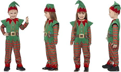Fancy Dress World Disfraz de Elfo de Navidad para niños y niñas ...