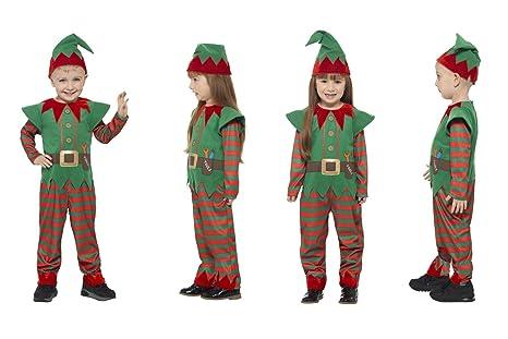 Fancy Dress World Disfraz de Elfo de Navidad para niños y ...
