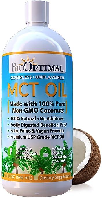 Amazon Com Biooptimal Mct Oil 32 Oz Keto Mct Oil 100 Coconut