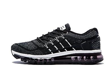 f81e76eb081e4b ONEMIX Damen Air Laufschuhe Sportschuhe mit Luftpolster Turnschuhe Leichte  Schuhe Schwarz-Weiss Größe 35