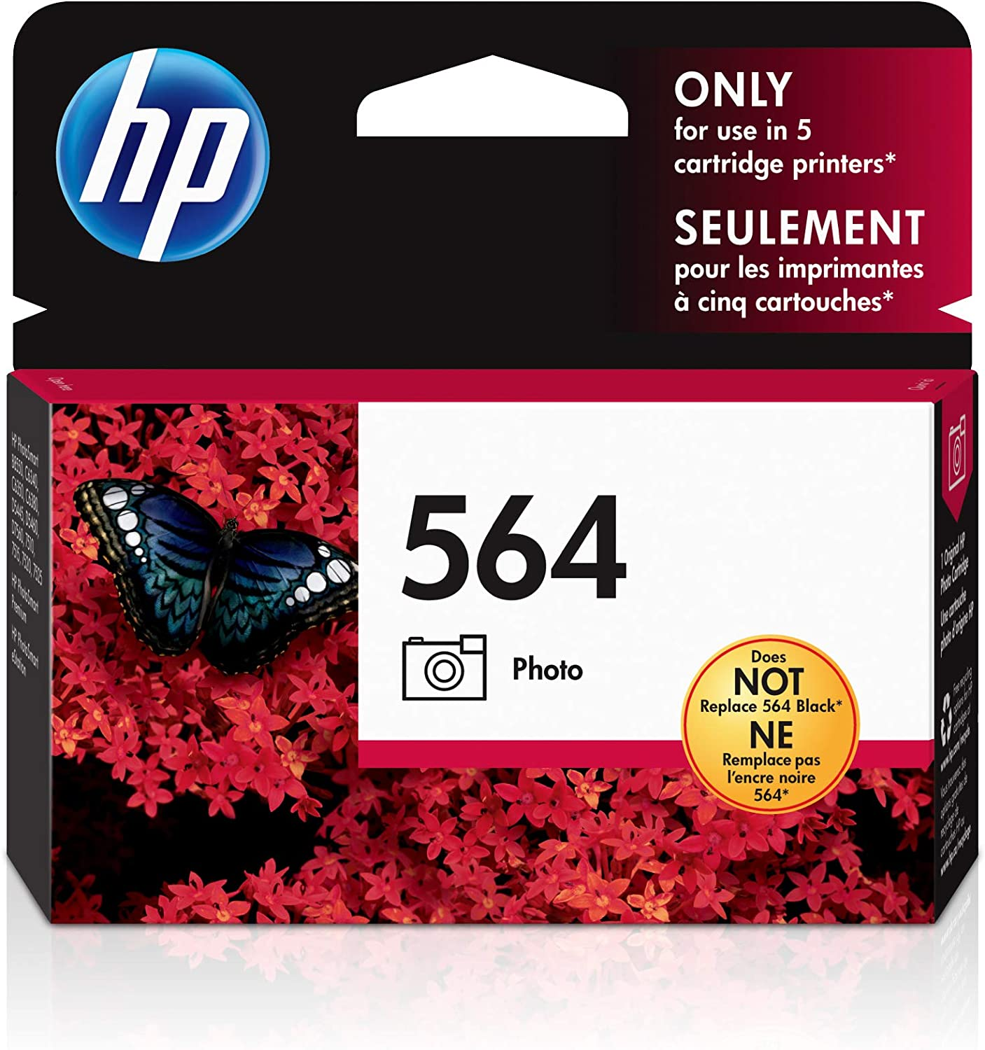 HP 564 | Ink Cartridge | Photo | CB317WN, Photo Black, Standard