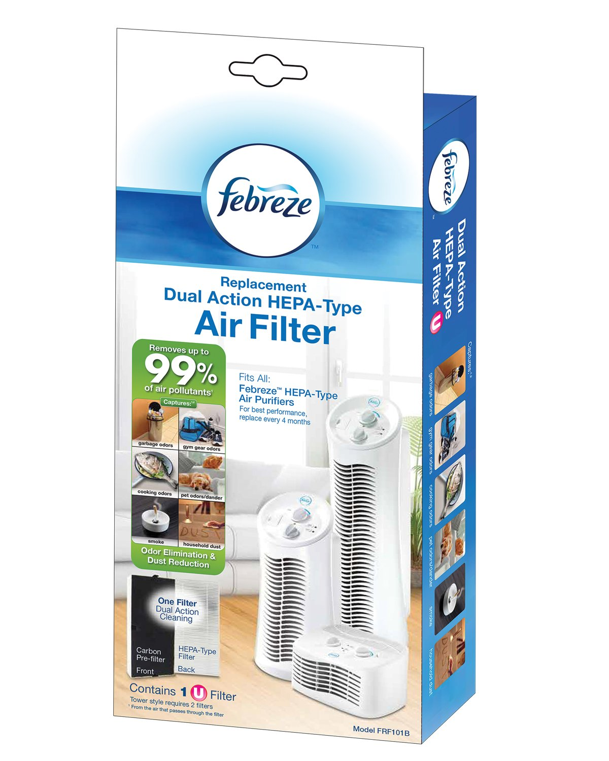 Febreze FRF101B Replacement Dual Action Filter