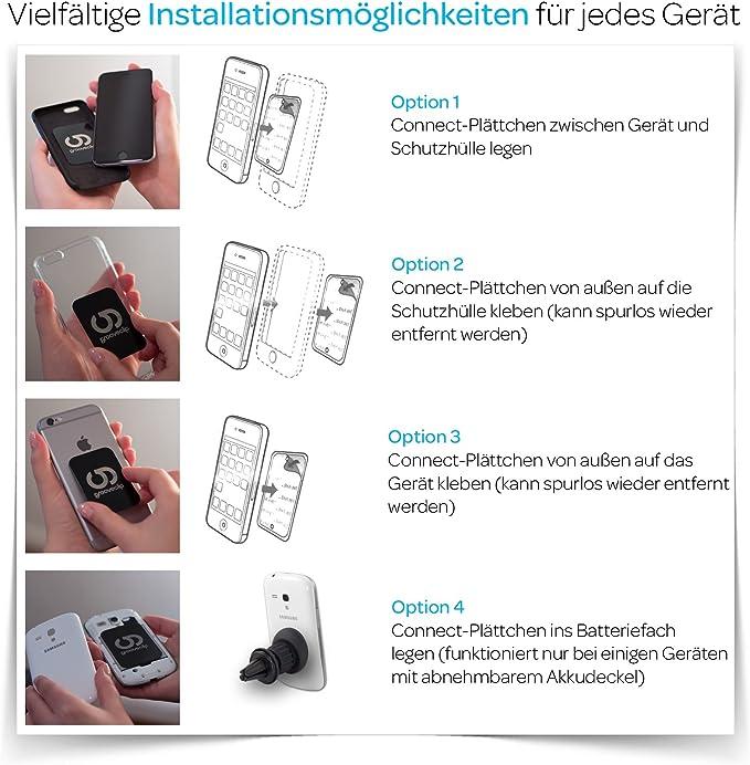 selbstklebende KFZ-Handyhalterung Samsung Galaxy Apple iPad Escape Park Magnetische KFZ-Halterung Handy-St/änder f/ür Auto Hut Halterung magnetisches Armaturenbrett kompatibel f/ür iPhone tragbarer St/änder kleiner Mann