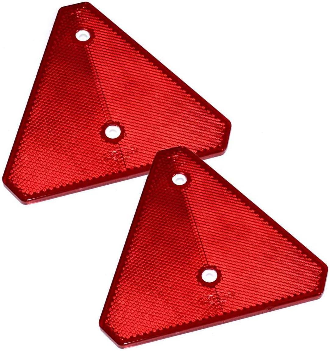 2 X Anhänger Rückstrahler In Rot Für Lkw Anhänger Oder Wohnwagen E Geprüft Auto