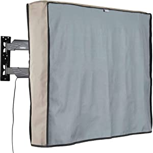 VonHaus Outdoor TV Cover 40'' - 42'' Weatherproof TV Enclosure - Dust-Proof Universal Protector with Bottom Seal and Built in Remote Controller Storage Pocket for LED, LCD, Plasma, Television Sets
