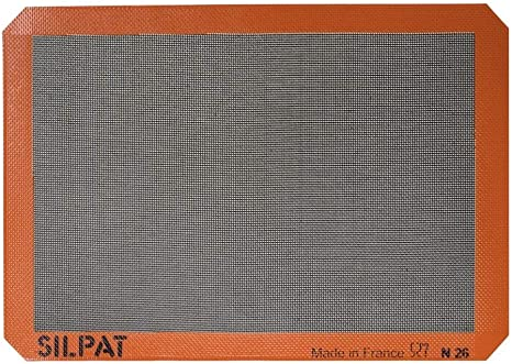 "Silpat Premium Non-Stick Silicone Baking Mat 11-5//8/"" x 16-1//2/"" Half Sheet Size"