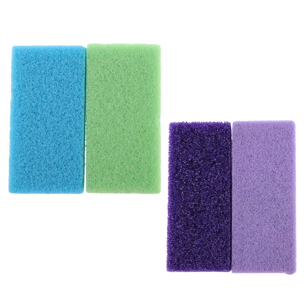 fenteer 4pcs Natural Lava Pumice Stone - Gift Set Bundle Synthetic Pumice Stone-Callus Remover Foot Scrubber Home Pedicure Exfoliation