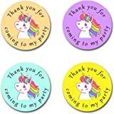 24 x Stickers 40mm Emoji *Thank You For Coming To My Party* Round Stickers for Party Bags /& Sweet Cones