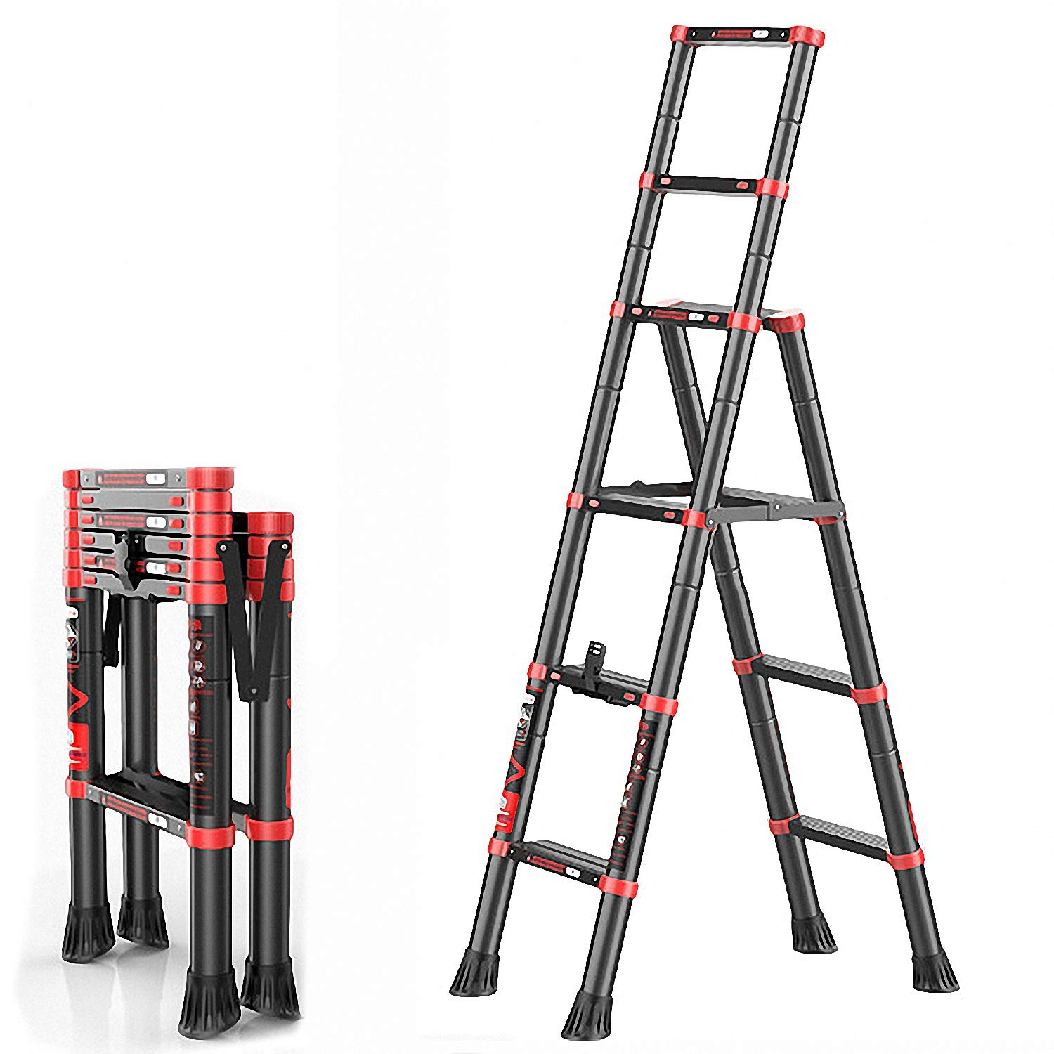 18 ft telescoping ladder large knives