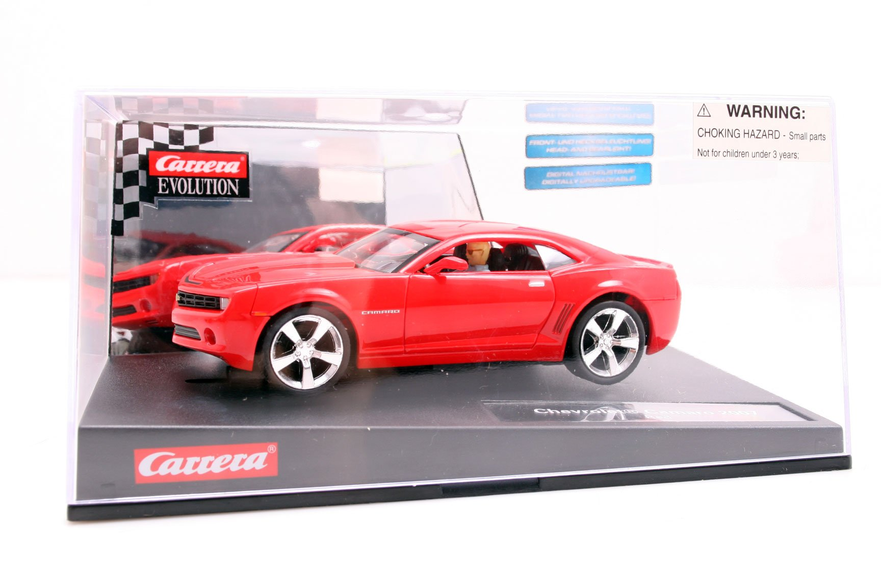 Carrera Evolution 1/32 2007 Chevrolet Camaro Slot Car - Red