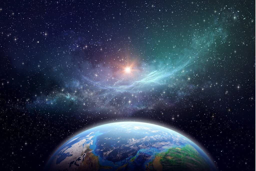 Laminated Exoplanet in Outer Space Fantasy Galaxy Picture Art Print Sign Poster 18x12 inch