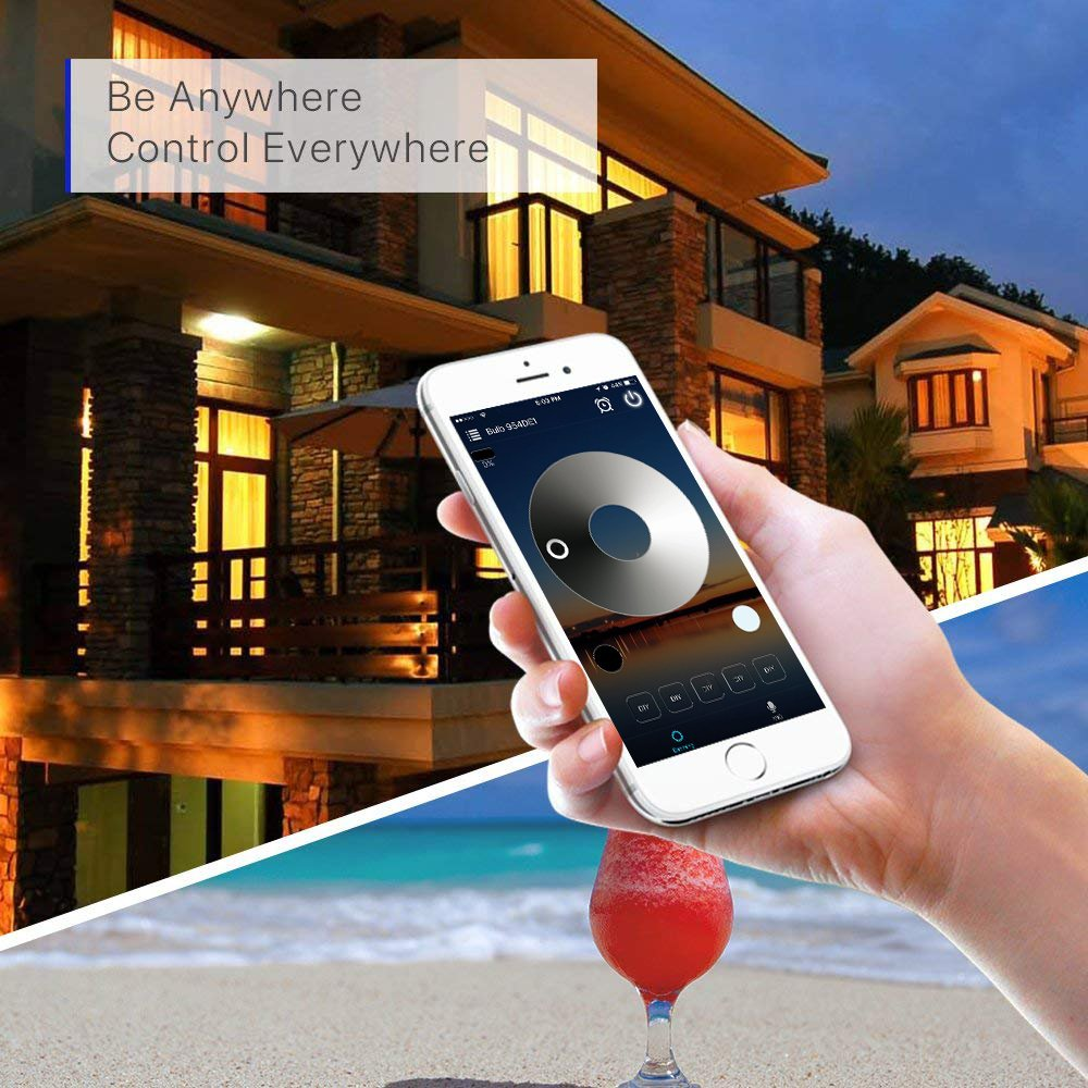 WiFi Deck Lights, FVTLED WiFi Controlled 20pcs Low Voltage LED Deck Lights Kit Φ1.38'' Outdoor Recessed Step Stair Warm White LED Lighting Work with Alexa Google Home, Silver by FVTLED (Image #9)