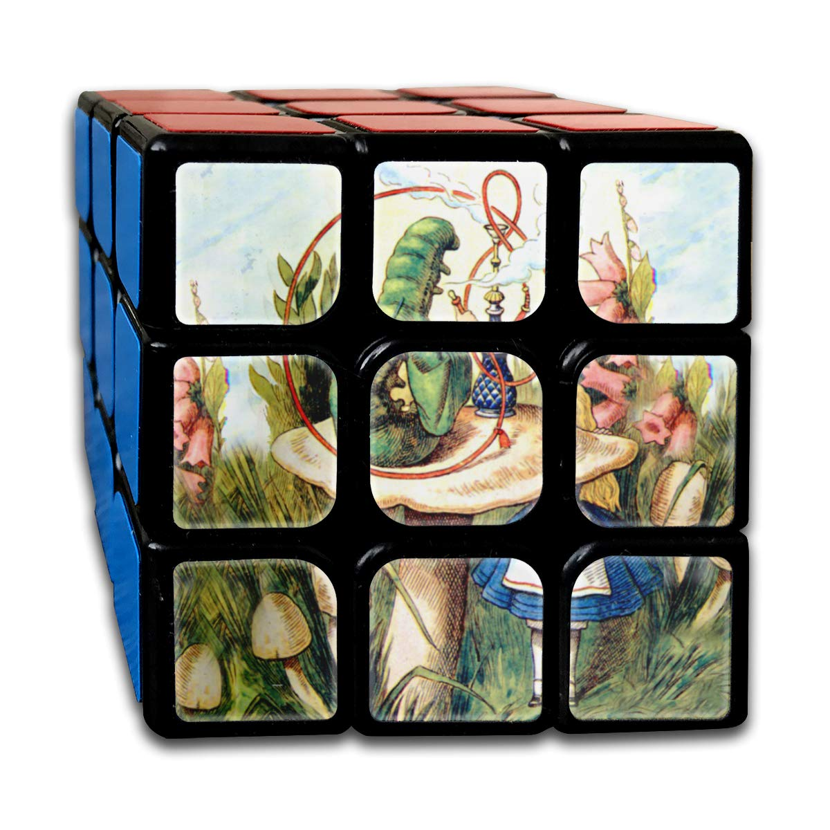 Rubiks Cube by DAIYU Variety Alice and The in Wonderland 3x3 Smooth Magic Square Puzzle Game Brain Training Game for Adults Kids