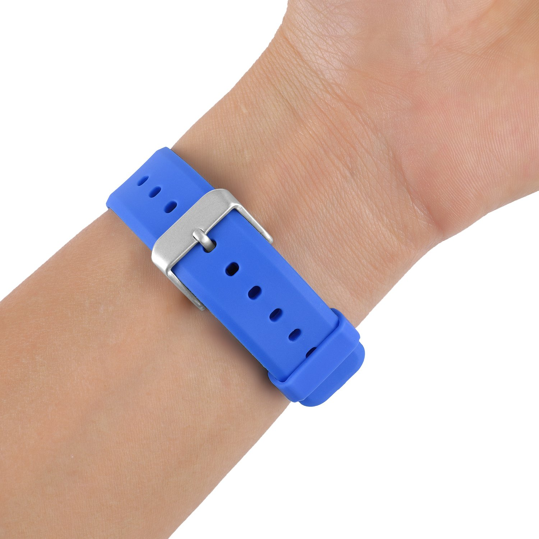 Mosstek Silicone Fitness Accessories Replacement Strap Wristband Metal Buckle Bands Compatible Garmin Vivofit Women Men